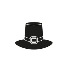 hat black icon of thanksgiving of the day vector image