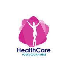 Health care logo template design vector