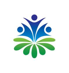 human leaf ecology logo image vector image