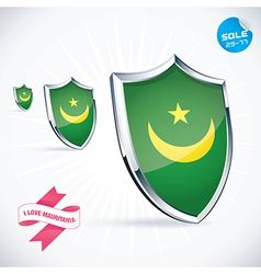 I Love Mauritania Flag vector
