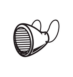 icon medical respiratory mask isolated vector image