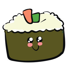 image cute sushi or color vector image