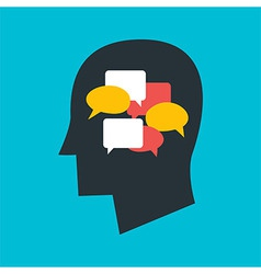 Man with Thoughts in his Head vector image