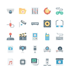 Music and Multimedia Icons 4 vector