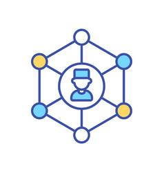 Network doctors rgb color icon vector