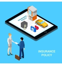 Online Insurance Concept Insurance Services vector image