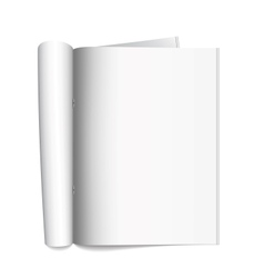 Open the paper journal vector image