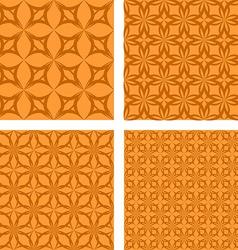 Orange seamless pattern background set vector