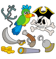 pirate collection 9 vector image