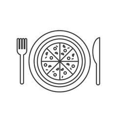 Pizza dish restaurant menu vector