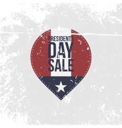 Presidents Day Sale grapgic Label with Text vector image