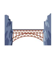 railroad bridge architectural design element vector image