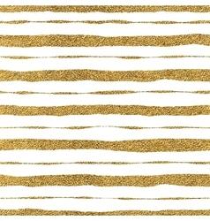 Seamless pattern of golden strokes vector