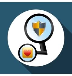 Security system design social media icon shield vector