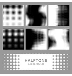 Set abstract halftone backgrounds vector