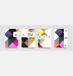Set of brochure cover templates vector