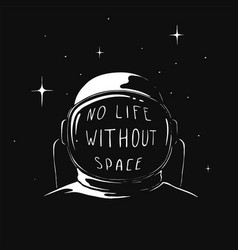 Space reflection in an astronauts helmet vector