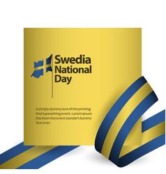 Sweden national day template design vector