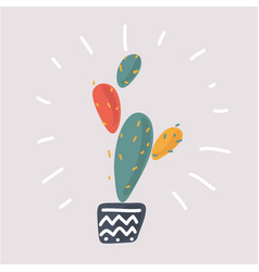 the prickly pear cactus vector image
