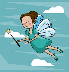 tooth fairy cartoon vector image