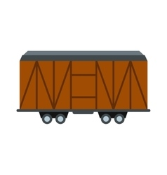 Train cargo wagon icon vector image