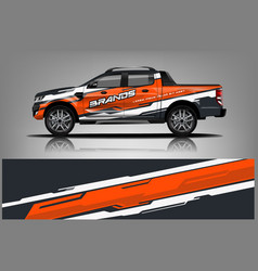 truck wrap design for company vector image