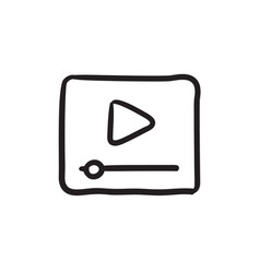 video player sketch icon vector image