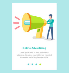 website landing page template with male character vector image