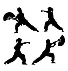 Wushu girl vector image