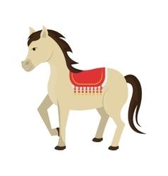 Circus horse animal cartoon design vector