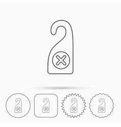 Do not disturb icon Sleep door hanger sign vector image