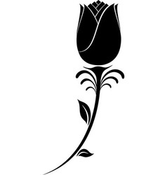 Flower Silhouette vector image vector image