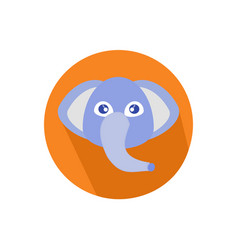 icon elephant head isolated on white background vector image