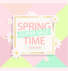 spring sale geometric background vector image vector image