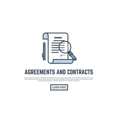 agreement line banner vector image vector image