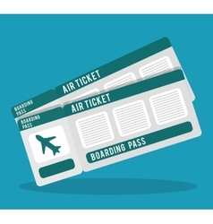 boarding pass icon image vector image