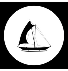 catamaran boat simple isolated black icon eps10 vector image vector image