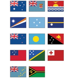 nz australia and oceanian flags vector image vector image