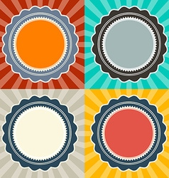 Abstract Retro Backgrounds Set vector image vector image