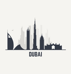 Dubai black view vector image