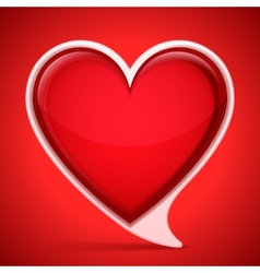 Heart shaped speech bubble vector image