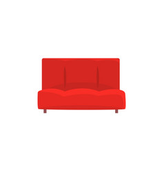 red sofa or couch living room or office interior vector image vector image