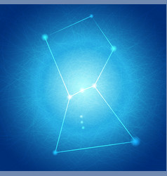 abstract blue orion on tangle line background vector image