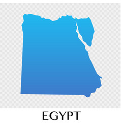egypt map in africa continent design vector image
