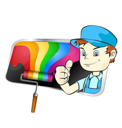 painter for painting symbol vector image vector image