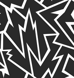 tribal monochrome seamless texture vector image