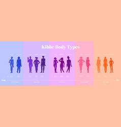 13 kibbe body types vector