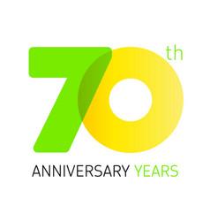 70 anniversary years logo vector