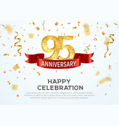 95 years anniversary banner template vector image