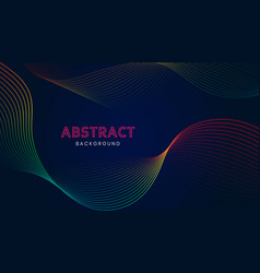 abstract background with colorful wavy lines vector image